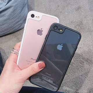 (Soft) Transparent Sides Outline iPhone Case