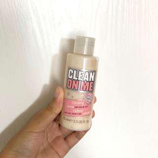 全新英國soap and glory clean on me shower gal 旅行式輕便易攜沐浴露