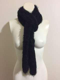 Miss Shop Black Scarf 🧣 Soft Knited Feathery