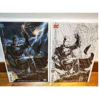 Justice League #1 Jim Lee Color and Inks Only B&W Sketch Variant Set