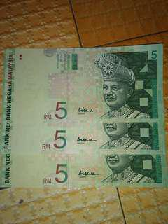 Malaysia money RM5.00