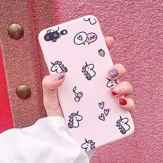 (Soft) Cherry Heart Many Unicorn iPhone Casr