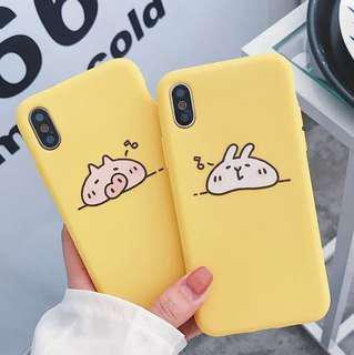 (Soft) Yellow Pig Bunny iPhone Case