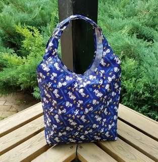 日本 snoopy 史努比 防水卡通購物袋單肩袋手提袋環保袋 子母袋