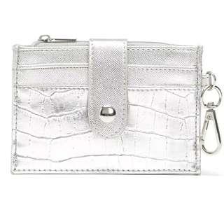 銀色 PU 信用卡包卡套 零錢包鑰匙包名片包卡夾