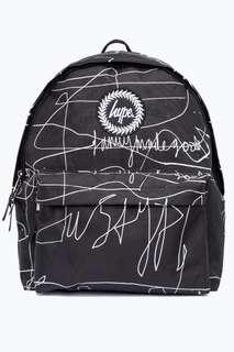 Just Hype Black Scribble Backpack