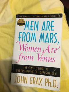 Men are from mars, women are from venue