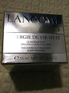 Lancome 15ml energie de vie nuit sleeping mask