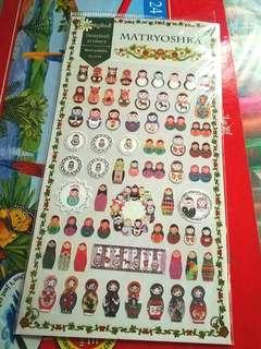 Matryoshka / Russian Dolls Sticker Pad