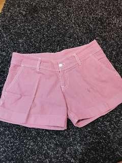 Shorts Celana Pendek Merah garis garis