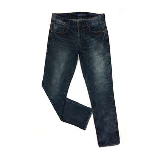 Get Used Jeans Slim Fit Straight Blue Fogging Washed
