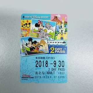 東京 Disney Resort Line 2 Day Pass