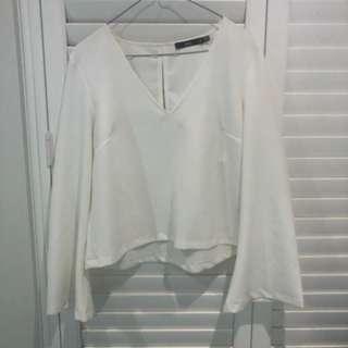 Sportsgirl flare sleeve blouse