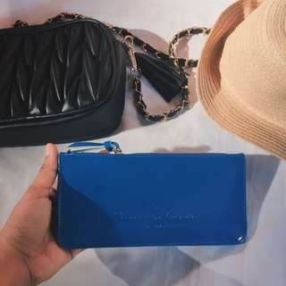 NEW Blue Long Wallet