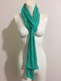 Saba Green Scarf 100% Organic Cotton