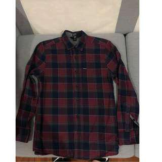 99% brand new Volcom CADEN LONG SLEEVE FLANNEL 冇著過