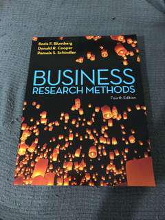 Business Research Methods (Fourth Edition)
