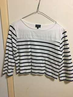 Stripe mid rise top