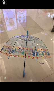 全新 7-11 正版 史迪仔 透明直身雨傘 遮
