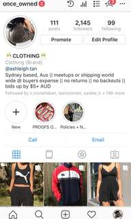 FOLLOW MY INSTAGRAM ACCOUNT FOR SOME BANGER CLOTHES!!