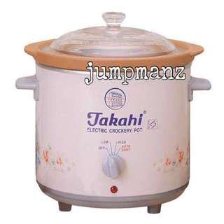 Takahi 1404 Slow Cooker 2.4L Pink (FREE DELIVERY, Brand New)