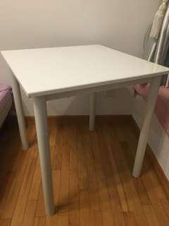 White Table and Chair