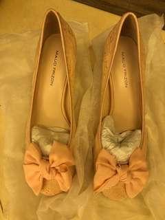 減!Maud Frizon 粉紅色高跟鞋39號