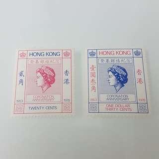 1978年女皇加冕25週年紀念郵票