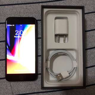 IPHONE8 64 gig space gray globe lock BRAND NEW complete with box adaptor lightning cable except for the headphones kasi gamitin ko siya. RFS gift pero I have an Iphone8 pa