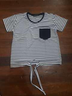 Tie-knot Stripes Top