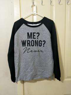 Me? Wrong? Never sweater