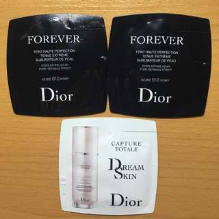 3包 Dior Forever Fluid Foundation + DreamSkin