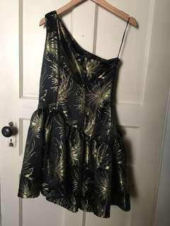 Custom made black/gold dress