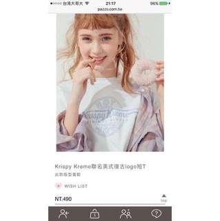 🚚 Krispy kreme聯名美式復古logo短T m