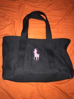 Polo Ralph Lauren pink pony woven tote bag
