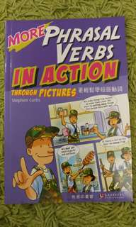 More Phrasal Verbs in Action through pictures 商務印書館 by Stephen Curtis 原價$64 免費送贈品 更輕鬆學短句動詞 學英文 地道英語 phasal verb