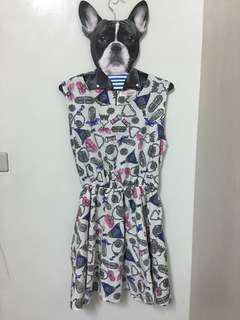 🚚 滿版圖案可愛洋裝