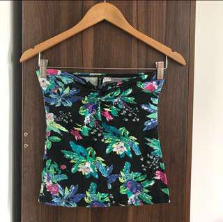 H&M Floral Tube Top