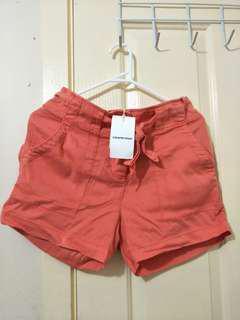 Sunset orange shorts