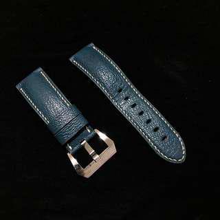 Panerai Chevre Blue Leather Strap