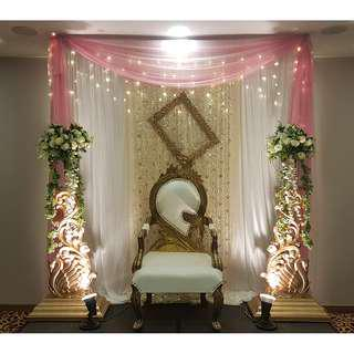 Birthday / ROM / Wedding Backdrop Setup / Props Rental Service / Mini Pelamin / Mini Dais / Bangle Ceremony / Engagement / Baby Shower Deco