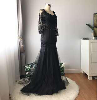 DRESS KEBAYA BLACK