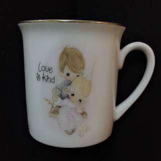 八十年代Precious Moments 咖啡杯