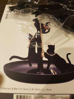 BN jewellery stand black cats by kikkerland design