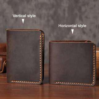 Dompet Pria Bahan Kulit Vintage Wallet