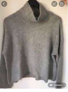Forever New Light Grey Turtleneck S