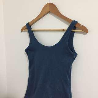 basic blue kookai dress