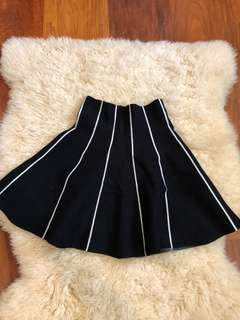 High Waisted Knit Skirt