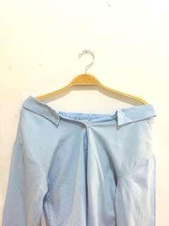 Mayoutfit Blue Sabrina Top