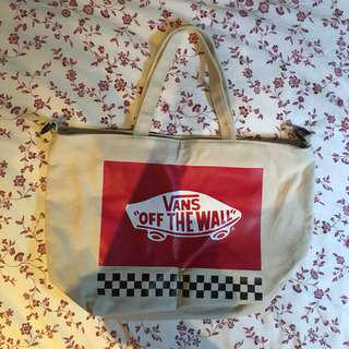 INSPIRED vans checkered small tote bag